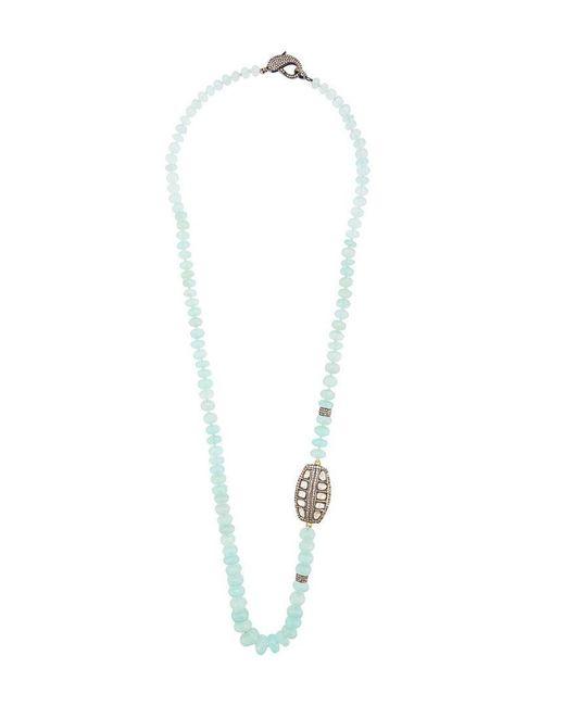 Loree Rodkin - Metallic Beaded Chalcedony Quartz Necklace - Lyst