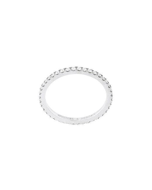 Wouters & Hendrix - White Full Diamond Ring - Lyst