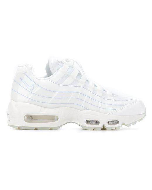 0c1ddb5d34c Nike - White Air Max 95 Sneakers - Lyst ...