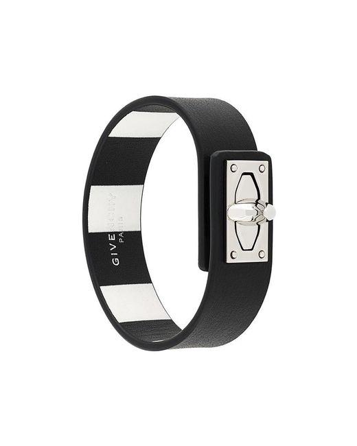 Givenchy - Black Shark Lock Bracelet - Lyst