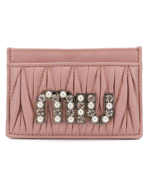 Miu Miu マテラッセ カードケース Pink