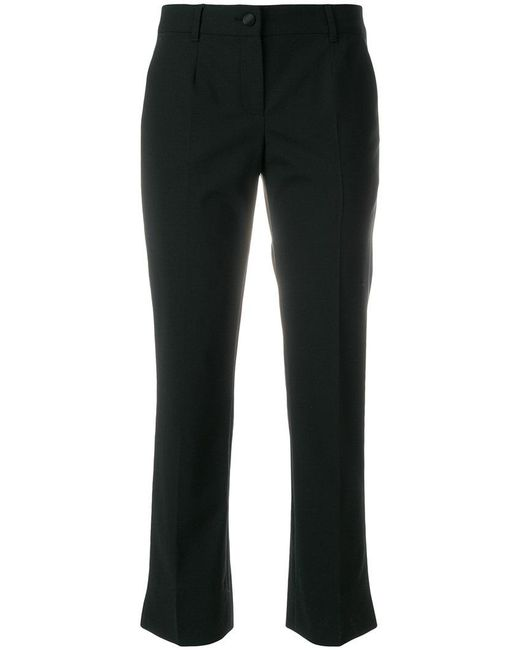 Dolce & Gabbana - Black Cropped Tailored Trousers - Lyst