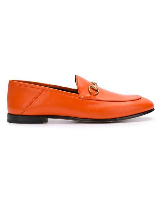 73228e055 Gucci - Orange Horsebit Loafers - Lyst ...