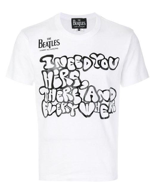 Comme des Garçons - White Printed T-shirt for Men - Lyst
