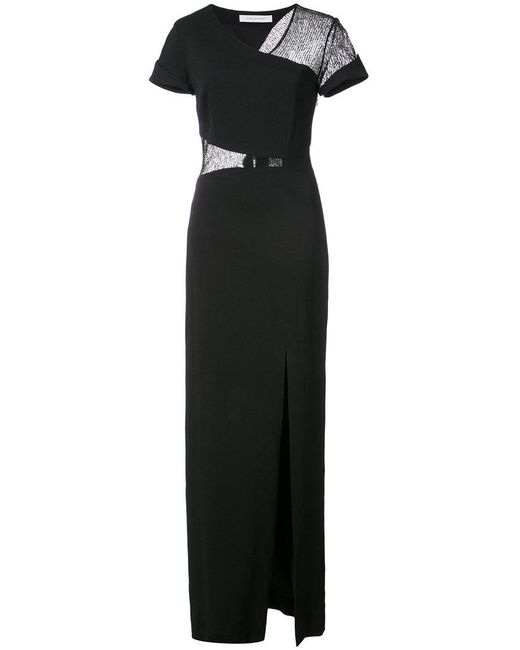 Kimora Lee Simmons - Black Lace Wrap Around Gown - Lyst