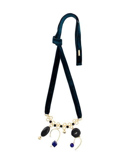 Marni - Black Tied Velvet Necklace - Lyst