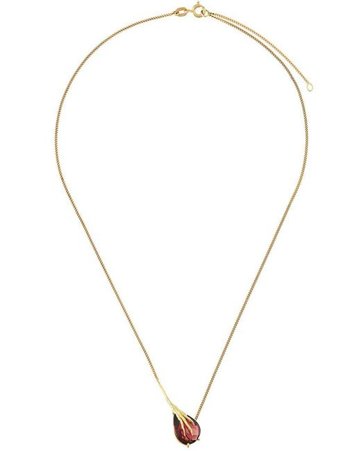 Wouters & Hendrix - Metallic 18kt Yellow Gold 'crow's Claw' Garnet Necklace - Lyst