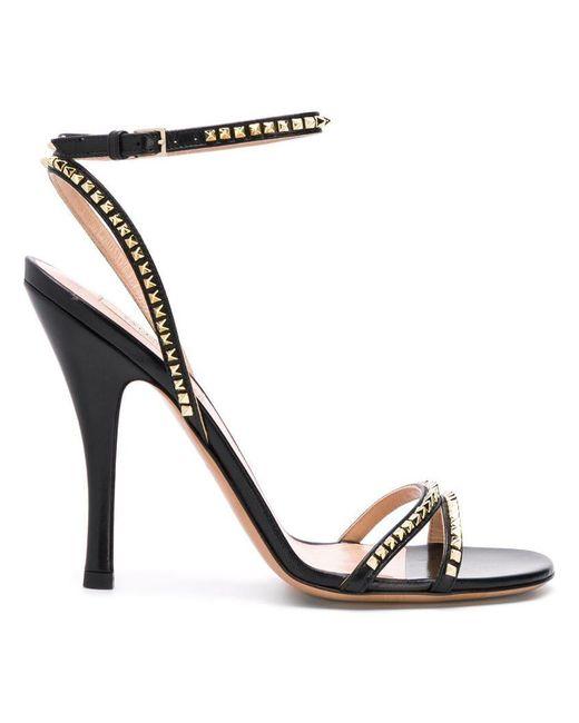 Valentino - Black Garavani Micro Rockstud Sandals - Lyst