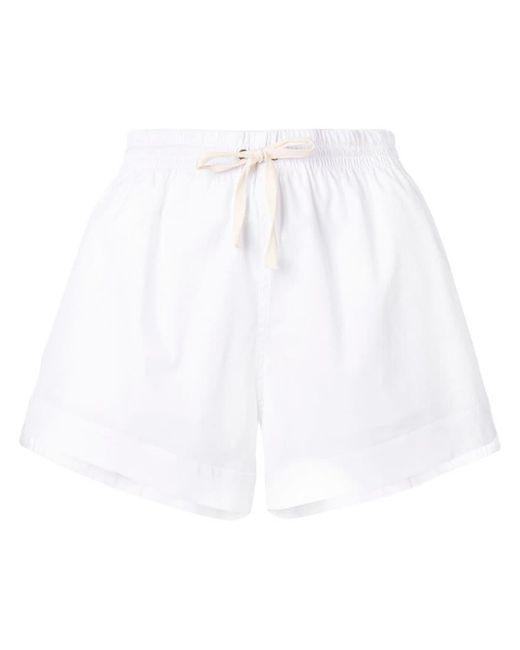 57ee85b99bc6 Monse - White Elasticated Waistband Shorts - Lyst ...