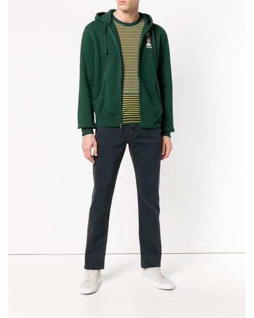 67f8b5c37a95 ... Polo Ralph Lauren - Green Bear Hooded Jacket for Men - Lyst ...
