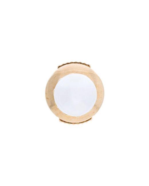 Yvonne Léon - Metallic Grande White Pearl Stud Earring - Lyst