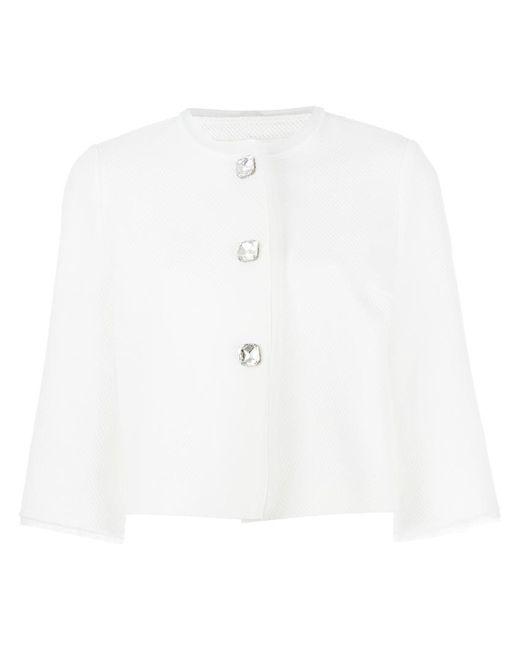 Ermanno Scervino | White Three-quarters Sleeve Boxy Jacket | Lyst