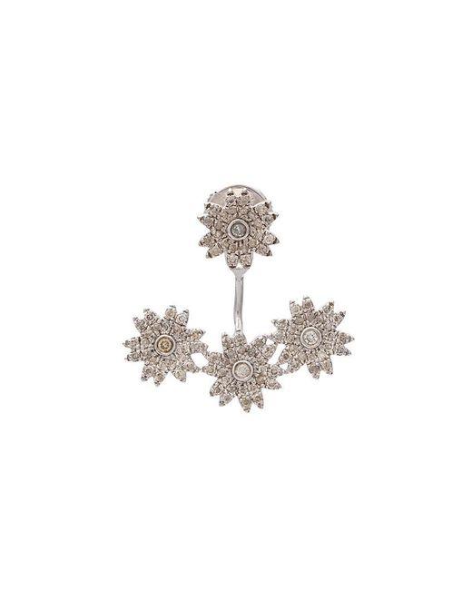 Yvonne Léon | Metallic Diamond Flower Stud Earring | Lyst