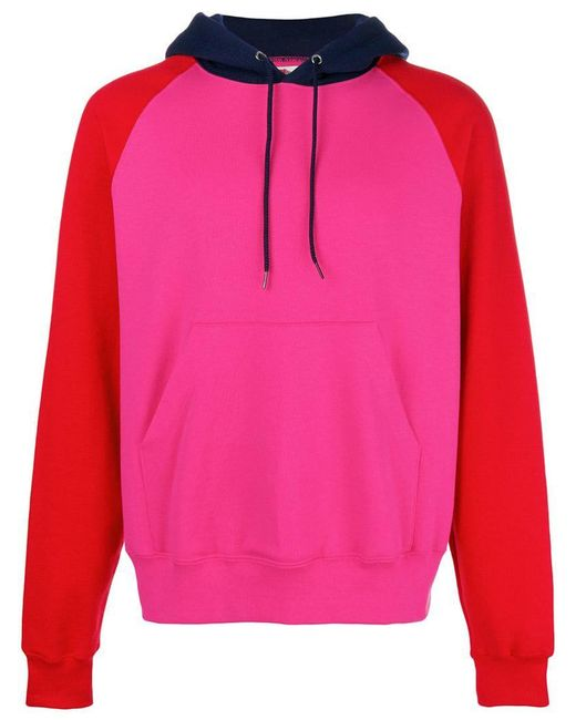 Cedric Charlier - Pink Sudadera con capucha y colour block for Men - Lyst  ... 5d0061ebc95