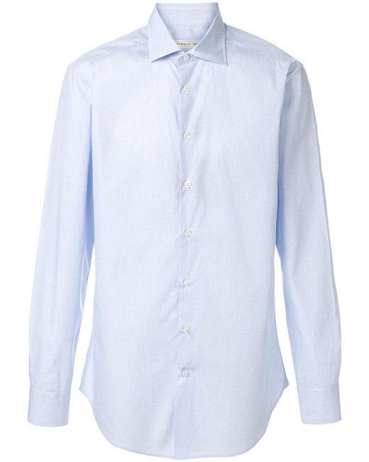 Etro - Blue Classic Shirt for Men - Lyst