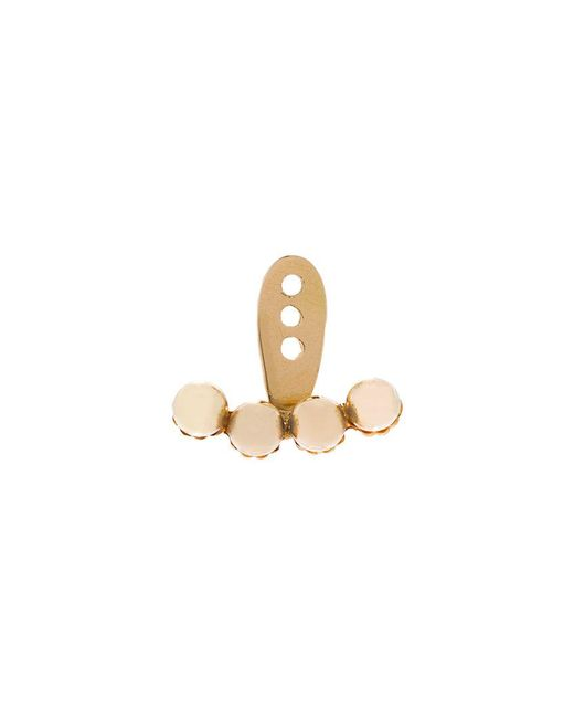 Yvonne Léon - Metallic 4 Petit Gold Pearls Ear Jacket - Lyst