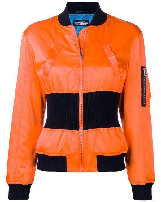 Jeremy Scott - Orange Cinched Bomber Jacket - Lyst