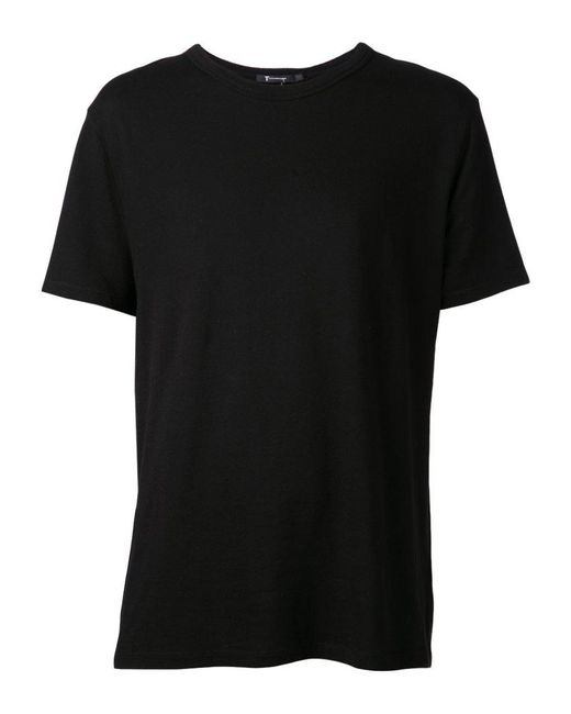 T By Alexander Wang | Black Round Neck T-shirt for Men | Lyst