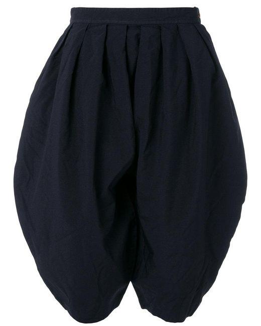Comme des Garçons - Blue Round Pleated Shorts - Lyst