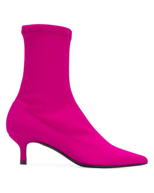 Aldo Castagna - Pink Kitten Heel Sock Boots - Lyst