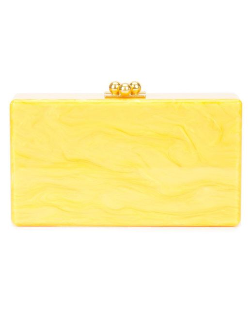 Edie Parker - Yellow Marbled Effect Clutch - Lyst