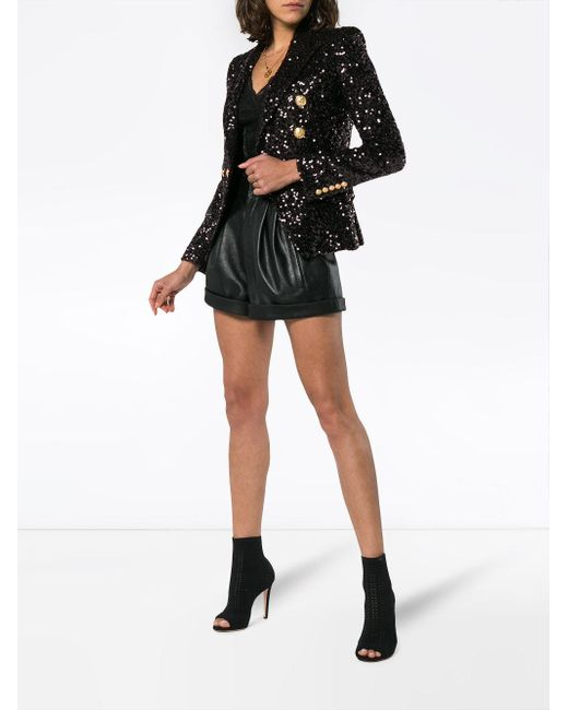 a3a0ad18 Balmain Double Breasted Sequin Blazer in Black - Save 48% - Lyst