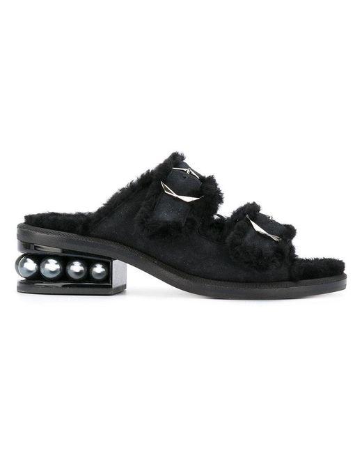 Nicholas Kirkwood - Black Casati Pearl Two-strap Sandals - Lyst