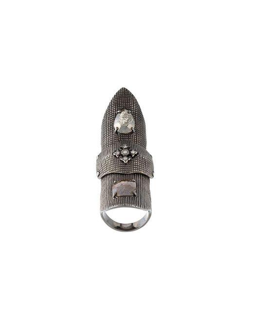 Loree Rodkin | Gray Slave Bondage Fancy Diamond Ring | Lyst