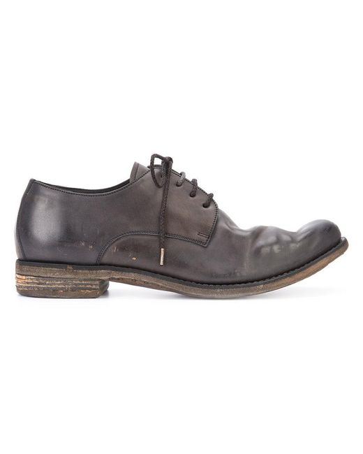A Diciannoveventitre - Brown Distressed Lace-up Shoes for Men - Lyst