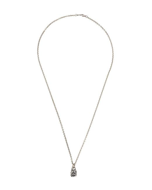 Tobias Wistisen - Metallic Framed Skull Necklace for Men - Lyst