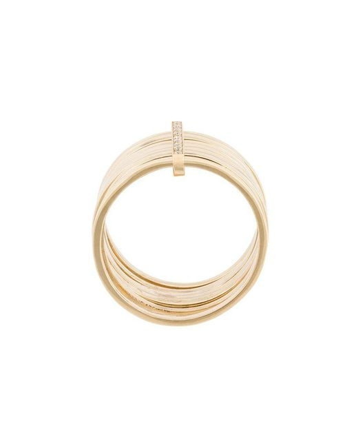 Lizzie Mandler | Metallic 18kt Gold '7 Day' Ring With Diamonds | Lyst