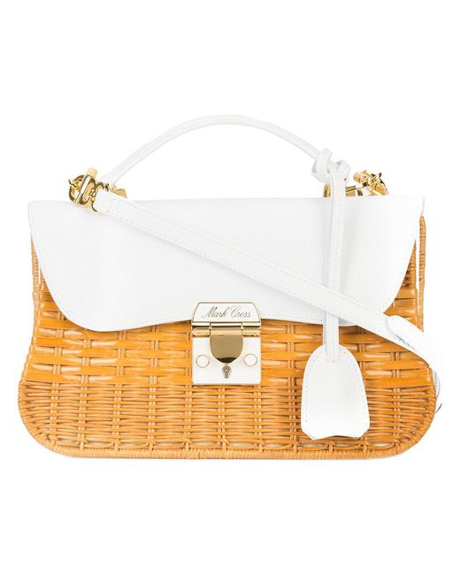 Mark Cross - Brown Structured Straw Bag - Lyst