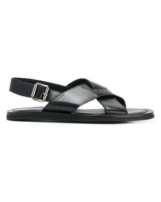 Church's - Black Sandalen mit überkreuzten Riemen for Men - Lyst