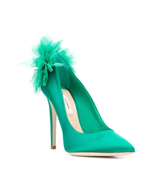 912387099 Olgana Paris. Women s Green Chrysantheme Court Shoes