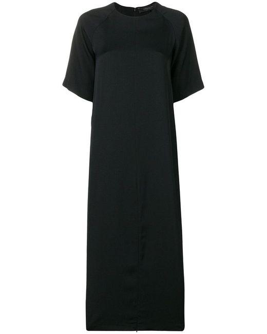 FEDERICA TOSI - Black Plain T-shirt Dress - Lyst