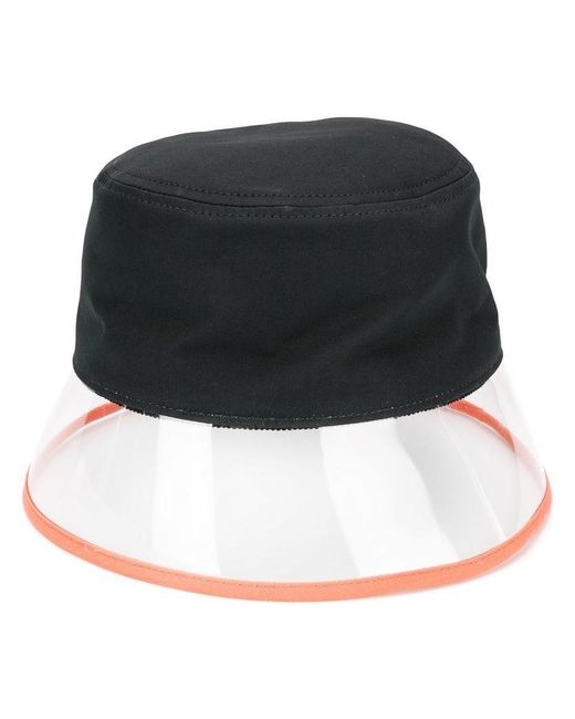 e594d4f62f8f7 Lyst - Sombrero impermeable Prada de color Negro