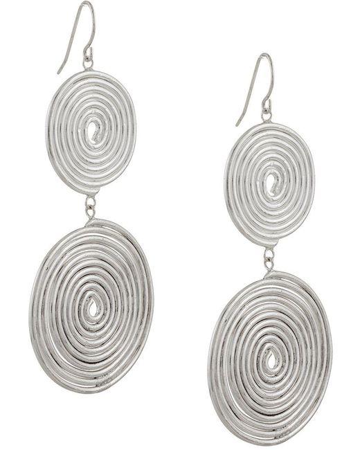 Petite Grand - Metallic Double Espiral Earrings - Lyst