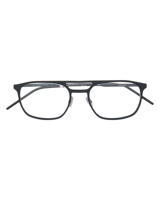 3250de7888ae2 Dior - Black Lunettes de vue à monture rectangulaire for Men - Lyst ...