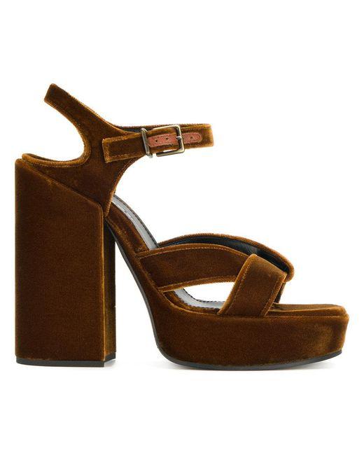 Jil Sander   Brown Platform Sandals   Lyst