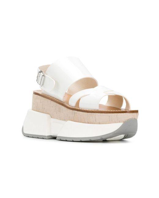 733897adaac9 ... MM6 by Maison Martin Margiela - White Platform Sandals - Lyst ...