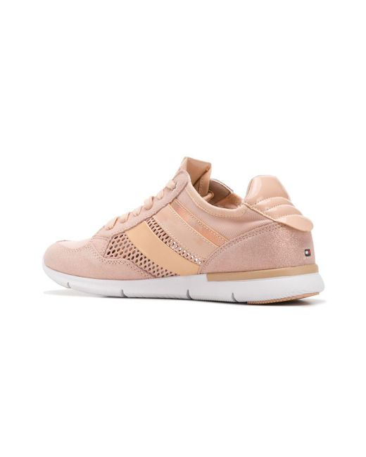 f82f5d021b4e9 ... Tommy Hilfiger - Pink Panelled Lace-up Sneakers - Lyst ...