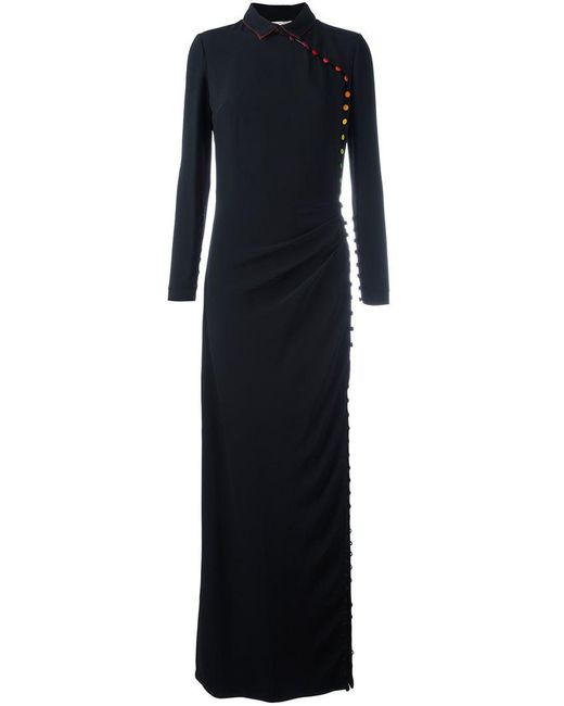 Marco De Vincenzo - Black Buttoned Fitted Dress - Lyst