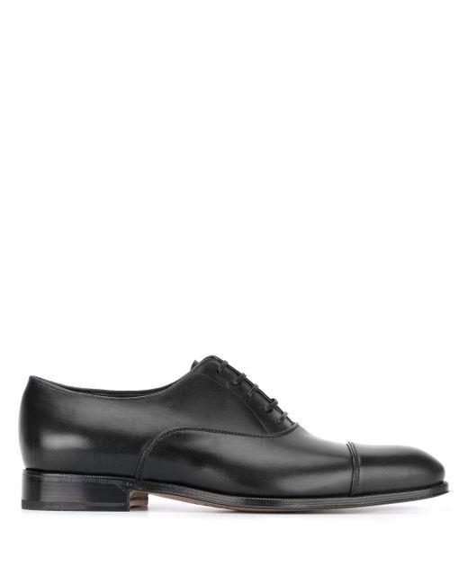 Туфли Оксфорды Ferragamo для него, цвет: Black