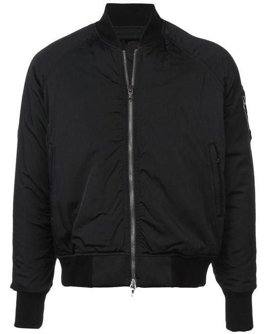 Julius - Black Zip Sleeve Detail Bomber Jacket for Men - Lyst