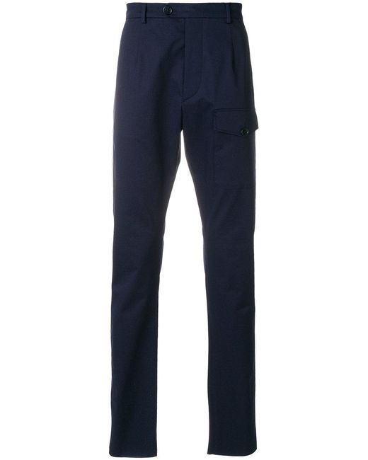 Prada - Blue Front Pocket Tailored Trousers for Men - Lyst