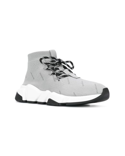 d2be7b28be570 ... Balenciaga - Gray Speed Lace-up Sneakers for Men - Lyst ...