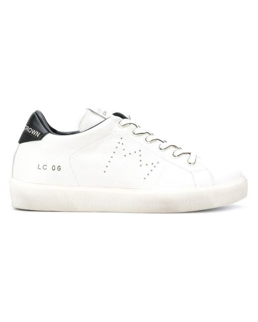Leather Crown | White Sneakers Con Tallone A Contrasto | Lyst