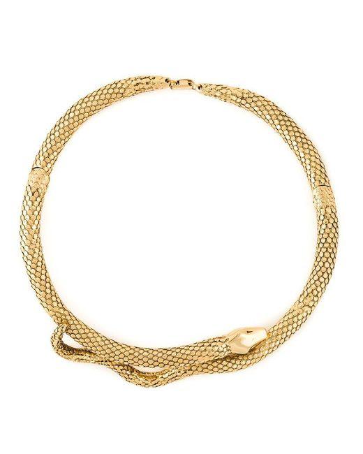 Aurelie Bidermann   Metallic 'tao' Snake Necklace   Lyst