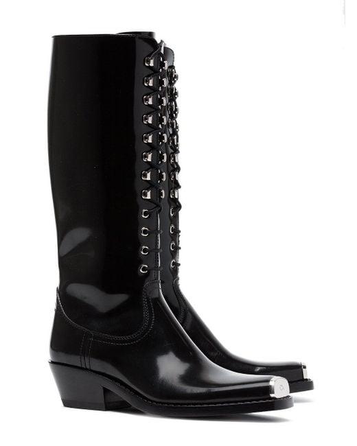 Calvin Klein Western Faye 40 Leather Boots CX4cVwZc