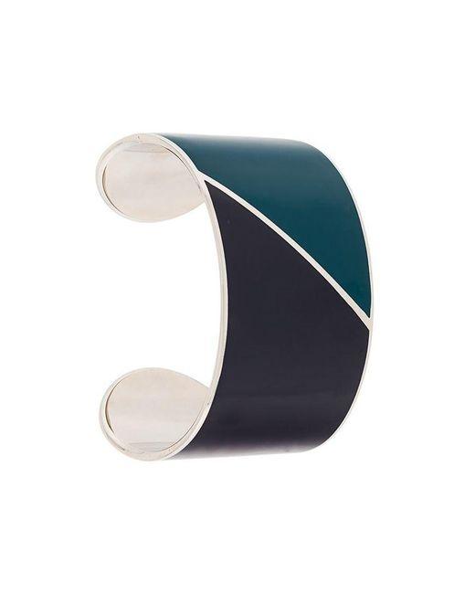 Lanvin - Metallic Colour-block Cuff Bracelet - Lyst